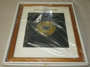 矢沢永吉 50周年記念 ゴールデドディスク 印刷サイン入